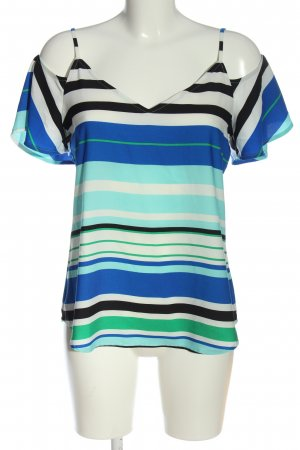 Calvin Klein Kurzarm-Bluse Streifenmuster Casual-Look