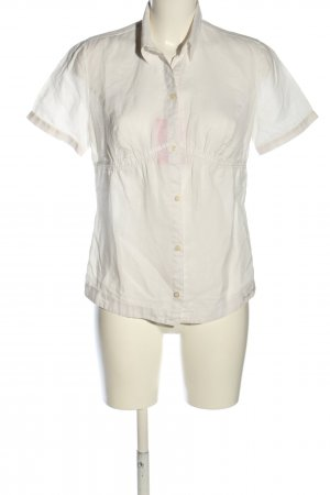 Calvin Klein Kurzarm-Bluse weiß Casual-Look