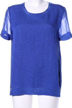 Calvin Klein Kurzarm-Bluse blau Business-Look