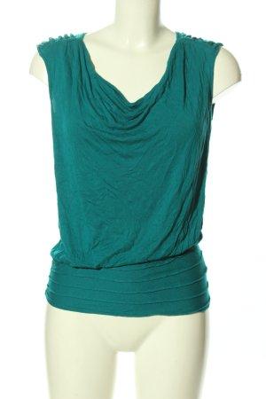 Calvin Klein Kurzarm-Bluse grün Casual-Look