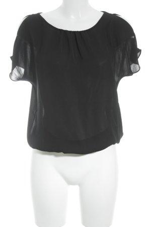 Calvin Klein Kurzarm-Bluse schwarz Business-Look