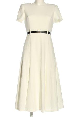 Calvin Klein Vestido de manga corta blanco puro elegante