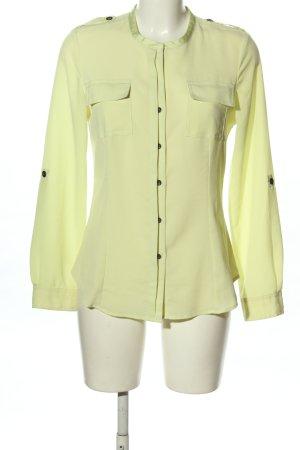 Calvin Klein Langarm-Bluse blassgelb Business-Look