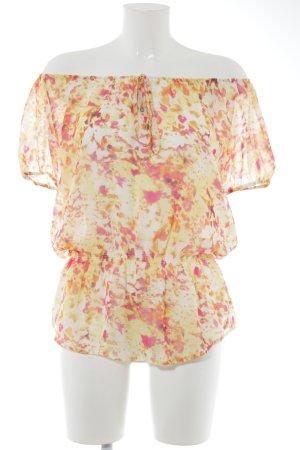 Calvin Klein Langarm-Bluse abstraktes Muster Casual-Look