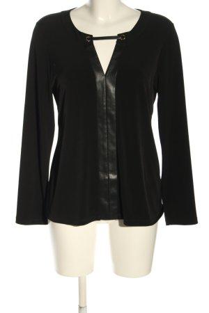 Calvin Klein Langarm-Bluse schwarz Casual-Look