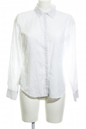 Calvin Klein Langarm-Bluse weiß Casual-Look