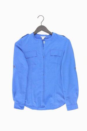 Calvin Klein Langarmbluse Größe XS blau aus Polyester