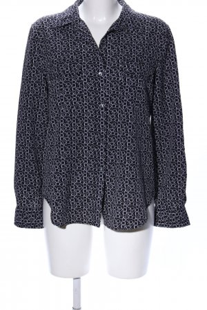 Calvin Klein Camicia a maniche lunghe nero-bianco stampa integrale stile casual