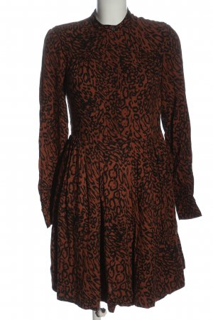 Calvin Klein Robe à manches longues brun-noir motif léopard