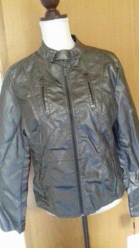 Calvin Klein Leder Jacke silber/metallic Gr. M neu mit Etikett ( direkt aus den USA )