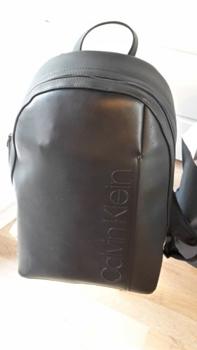 Calvin Klein Sac à dos de randonnée noir cuir