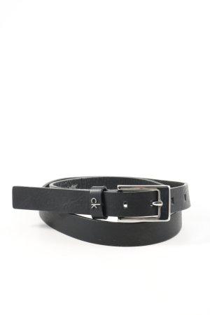 Calvin Klein Cintura di pelle nero stile professionale