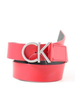 Calvin Klein Ledergürtel rot Casual-Look