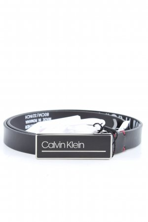 Calvin Klein Leather Belt black casual look