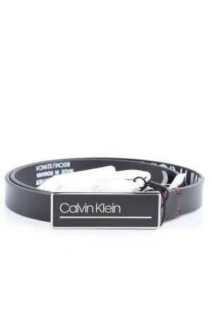 Calvin Klein Cinturón de cuero negro look casual
