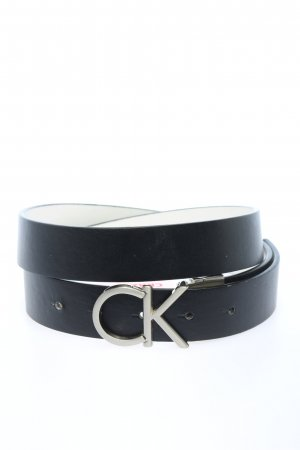 Calvin Klein Faux Leather Belt blue casual look