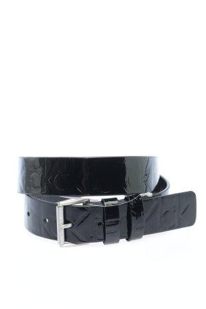 Calvin Klein Lederimitatgürtel schwarz Casual-Look