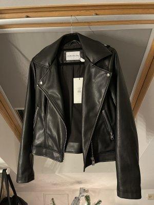 Calvin Klein Jeans Bikerjack zwart-wit