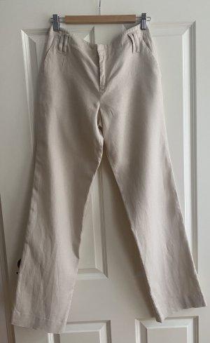 Calvin Klein Pantalón de lino beige claro