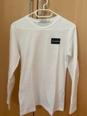 Calvin Klein Jeans Top à manches longues blanc-noir