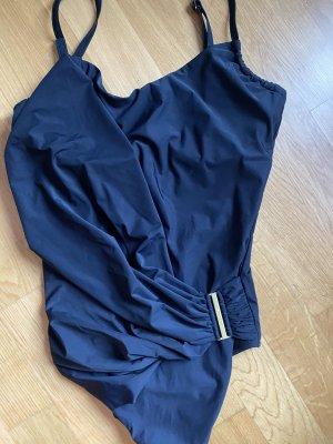 Calvin Klein M 38 schwarz Gold Badeanzug