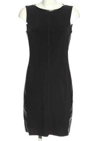 Calvin Klein Midikleid schwarz Glanz-Optik