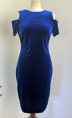 Calvin Klein Kokerjurk blauw-goud Polyester