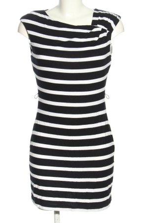 Calvin Klein Minikleid schwarz-weiß Streifenmuster Casual-Look