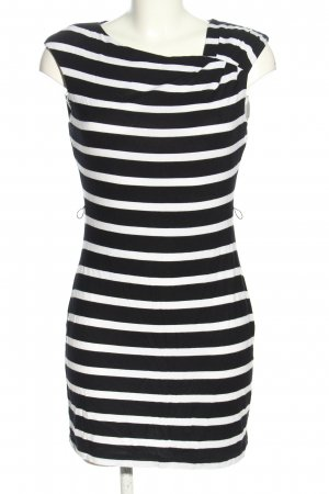 Calvin Klein Mini-jurk zwart-wit gestreept patroon casual uitstraling