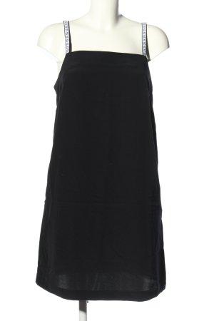 Calvin Klein Minikleid schwarz Schriftzug gedruckt Casual-Look