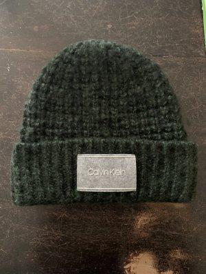 Calvin Klein Cappello a maglia verde scuro