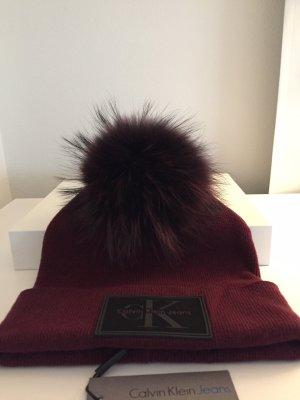 Calvin Klein Chapeau en tricot multicolore