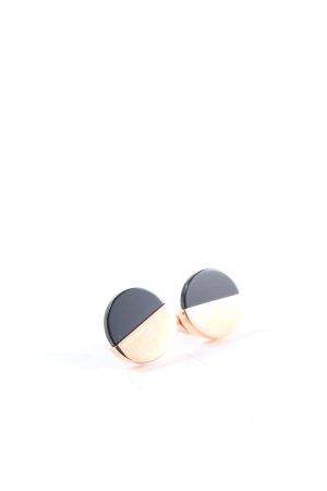 Calvin Klein Clou d'oreille noir-doré style décontracté