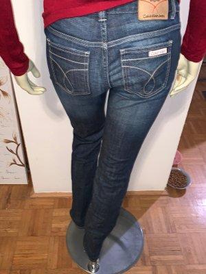 Calvin Klein Jeans Jeans cigarette bleu foncé-gris ardoise
