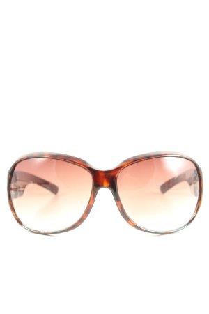 Calvin Klein ovale Sonnenbrille schwarz-hellorange abstraktes Muster Casual-Look