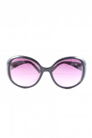 Calvin Klein Owalne okulary przeciwsłoneczne czarny-fiolet W stylu casual