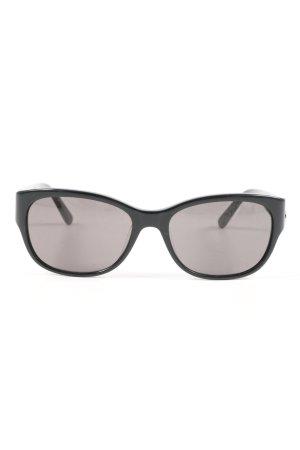 Calvin Klein ovale Sonnenbrille schwarz Casual-Look