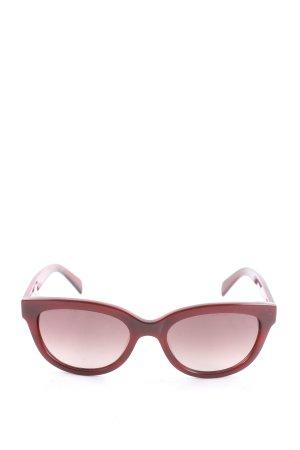 Calvin Klein Occhiale da sole ovale rosso stile casual