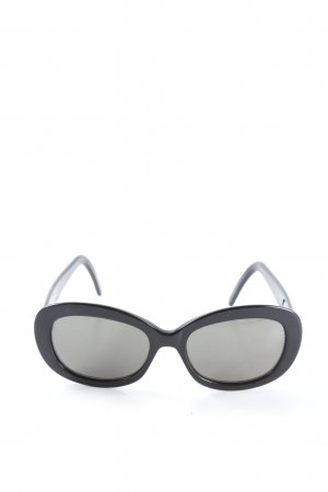 Calvin Klein Oval Sunglasses black