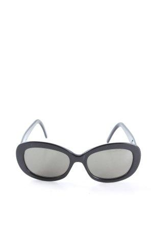 Calvin Klein ovale Sonnenbrille schwarz