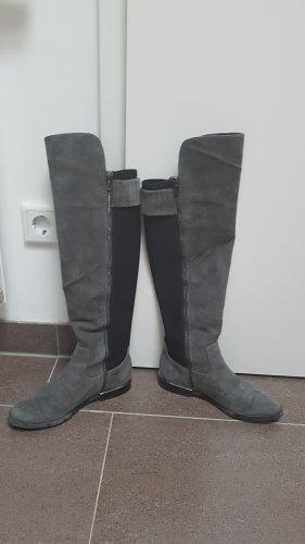 Calvin Klein Botas elásticas negro-gris Cuero