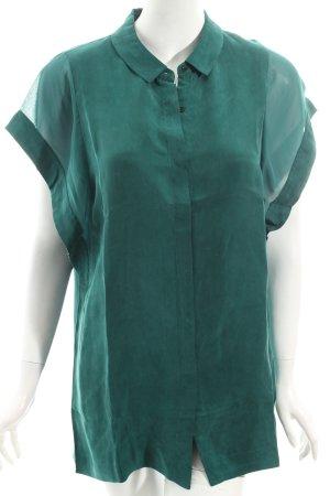 Calvin Klein Oversized Bluse dunkelgrün