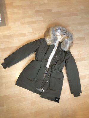 Calvin Klein Parka neu S khaki grün daunen jacke winter mantel
