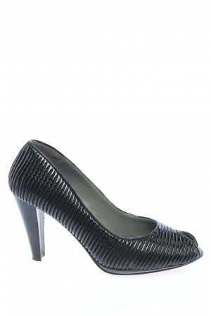 Calvin Klein Peeptoe Pumps schwarz Business-Look