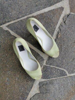 Calvin Klein Escarpins à bout ouvert marron clair-gris vert