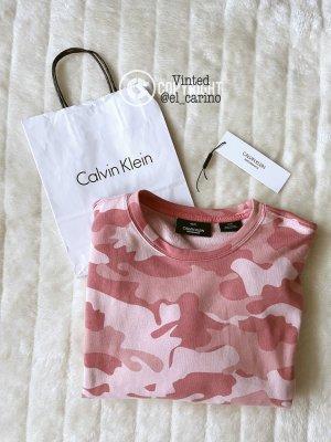 Calvin Klein Performance CK *Cropped Pullover* Crop kurzer Sweater Sweatshirt Camouflage - XS (34)