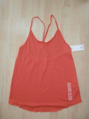 Calvin Klein Off the shoulder top oranje Polyester