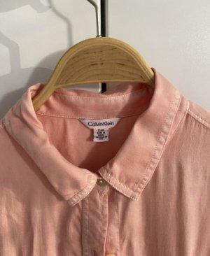CALVIN KLEIN pfirsichfarbige weich fließende Bluse