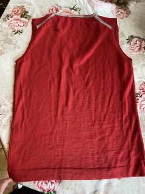 Calvin Klein Fine Knitted Cardigan red