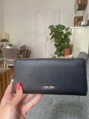 Calvin Klein Portemonnaie schwarz Leder